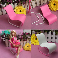 Cheap 2PCS Furniture Rocking Beach Chair Lounge For Barbie Doll Princess Dreamhouse