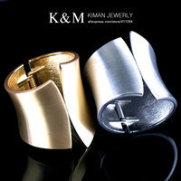 casting jewelry - KIMAN JEWELRY New Design K Gold Silver Plated Squeeze Casting Chunky Women s Bangle Bracelets Colors MOQ