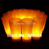 best holiday candles - New set Rechargeable Flameless LED Candles Tea Light Smokeless For Promotions Best Wed Holiday Led Party colors