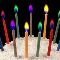 art suppies - Hot Sale Color Flame Candle Birthday Candle Party Candle High Party Suppies packs Freeshipping