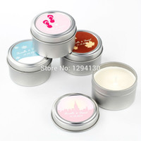 Wholesale Free Personalization Personalized Soy Candle Favors Set of More Designs