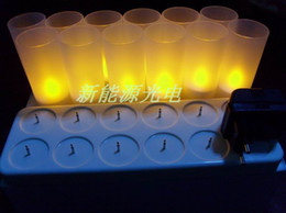 Wholesale Rechargeable LED Candle Light family bar coffee house teahouse restaurant KTV SPA beauty club Candles free shiping