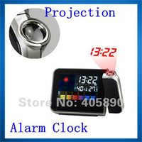backlit lcd screen - High Quality Multi Function Weather Station Digital LCD Screen Projection Alarm Clock with Colorful LED Backlit Snooze Function