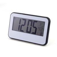 alarm temp light clock - New Digital Voice Control Back Light LCD Clock Calendar Temp White Black Alarm Display