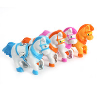 Wholesale Fun Cute Plastic Movement Horse Safety Wind Up Baby Toddler Educational Toys New