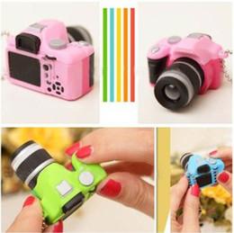 Wholesale Single Lens Reflex DSLR Camera Style LED Flash Light Shutter Sound Keychain Random Color