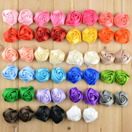 Wholesale Mini classic rose bud fabric flower baby girls headdress flower apparel accessories TH06
