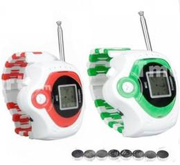 Descuento relojes de pulsera piezas El envío libre 2 pedazos / porción radio de dos vías KIDS WALKIETALKIE WRISTLINX 2 RELOJ DEL JUGUETE SPY 007 ADMINÍCULOS