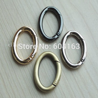 metal o rings - 4 Snap Clip Trigger Spring Gate Oval Ring mm for Buckle O Dee D ring Choice
