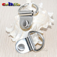 horse harness - 100pcs quot Metal D Rings Nickel Plated Dee Rings For Bag Shoes Horse Gear Harness Picture Frame Hangers FLQ087 S