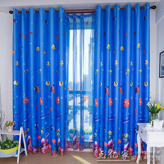 home decor childrens blackout curtains environmental underwater world of anime cartoon boy and girl bedroom curtain