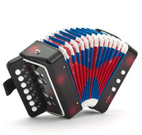 accordian box - New Drop Shipping JUNIOR BABY ACCORDION MINI ACCORDION ACCORDIAN BUTTON BOX For Kids Children High Quality Free Shpping