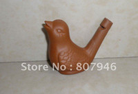Wholesale classic Whistle clay Ceramic whistling bird education toys children kids gifts