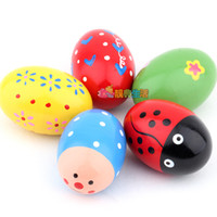 beautiful music baby - Orff instruments beautiful wooden sand eggs baby music toy child toys brinquedos