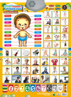 Wholesale NEW arrival Russian learning educational toys for kids baby children boys and girls Russian characters sound wall charts toys