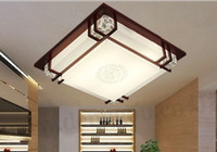 Wholesale Modern chinese style faux lamp wooden ceiling light led lamp sheepskin lamps