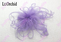 curly ostrich feathers - mix color fashion curly ostrich feather bows girl baby feather hair clips