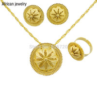 Wholesale Ethiopian traditional jewelry Sets for Wedding k Gold Filled african bridal jewelry sets Jewelry sets