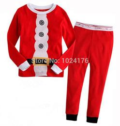 Wholesale New Christmas children s Pyjamas baby Sleepwear clothing girls boys long sleeve pajamas kids wear set t t XC