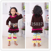 thanksgiving - Latest Thanksgiving Clothing Set For Kids Girls Fall Clothing Set With Turkey Outfit With Chiffon Cotton Ruffle