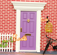 Wholesale Wooden Doll House Diy Lovely Fairy Doors Inspire Imaginative Play for Kids Special Gift For Children Girl Miniatures Toys FD022