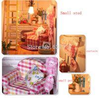 alice building - Christmas Gift Sunshine Alice DIY Doll House Model Building Kits Handmade D Miniature Wooden Dollhouse Toy