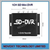 Precio de Circuito cerrado de televisión de vehículos-Envío Gratis PlugPlay 1 canal 1 canal de vídeo de audio de tarjetas SD Mini Car Bus Vehículo móvil DVR CCTV Digital AV grabadora dual Corriente