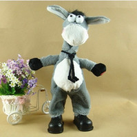 Wholesale selling edition electric toys singing dancing donkey plush toys children s toys gifts