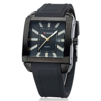 Wholesale 100 High Quality Authentic CURREN Fashion Casual Business Men Silicone Watches Men Steel Quartz Black Watch A8145
