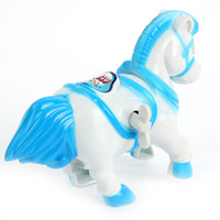 Wholesale 2 FreeShipping Fun Cute Plastic Movement Horse Safety Wind Up Baby Toddler Educational Toys NewNew Arrival