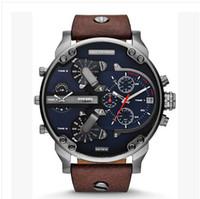 Wholesale 2015NEW DZ7311 men s Watches Brand DZ Leather watches DZ7314 Quartz Military Sports Watches Waterproof relogios masculinos