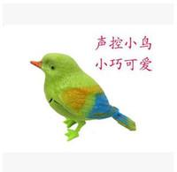 Nuevo de alta calidad de sonido de voz divertido Activar singing niños de juguete natural del pájaro de bebé caliente Shippin # HK0120
