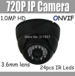 2017 dôme intérieur caméras ip Gros-720P intérieur caméra IP dôme réseau Mini caméra 1.0MP Xmeye pour Android iPhone 3.6mm avec Cut IR CCTV Caméra ONVIF P2P dôme intérieur caméras ip sortie