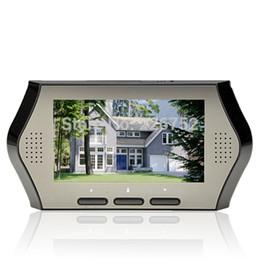 """Visores de puerta al por mayor en venta-Al por mayor-4.3 """"Pantalla Lente Gran Peephole de la cámara DVR IR de detección de movimiento de la seguridad casera puerta del ojo, Pantalla LCD Digital mirilla"""