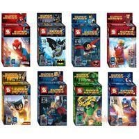 Wholesale The Avengers Super Heros Minifigure sets set ABS CM Legoland DIY Bricks Toys Best Gift For Children LR
