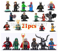 arrow construction - 21pcs Super Heroes Avengers Star Wars deadpool green arrow green lantern minifigures Constructions building block DIY Toys
