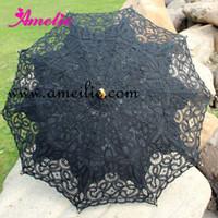victorian parasol - wedding handmade ivory cotton SUN BATTEN victorian LACE PARASOL UMBRELLA