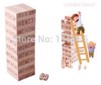 big jenga - 51pcs Jenga big Learning Education wood blocks toy Baby Tower Toys Jenga Board Team Game Building Blocks Kids Family adult