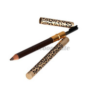 Cheap New Eyebrow Pencil Two Sides With Brush Leopard Design Metal Casing Fashion