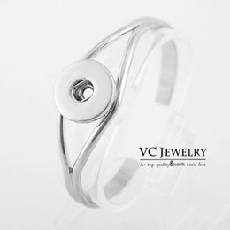 Wholesale Wholeslae Interchangeable Jewelry Metal Snap Button Cuff Bracelet Ginger Snaps Jewelry Vb