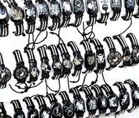 al por mayor imitación de cuero pulseras al por mayor-Joyería por mayor 10pcs mixto cuero del Faux Tribal brazalete brazalete pulsera pulseras Unisex joyería del cáñamo gratis