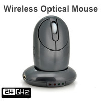 Revisiones Usb rechargeable wireless optical mouse-Ratón óptico inalámbrico recargable mayor-2.4G con 4-Port Hub USB / Base de carga del cable retractable para el ordenador portátil de sobremesa de hierro gris