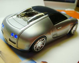 Wholesale Bugatti Top Racing Sport Car Shape Optical Mouse Mice with Headlight and Tail light Look Amazing