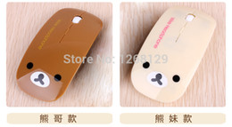 Wholesale-2015 Sale Top Fashion Optical 1000 Mouse Para Jogos free Shipping Wireless Mouse And Mice 2.4g Receiver, Super Slim Rilakkuma
