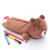 app bear - Cute Plush LINE APP Brown Bear Gilr Kid Pencil Bag Case Stationery quot New LN
