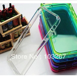 Wholesale transparent Candy Color Silicon Case Cover For iPhone S Assorted Colors