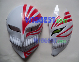 Wholesale-2 Pcs Bleach Ichigo Kurosaki Bankai Hollow Mask Full and Half Cosplay Props Free Shipping