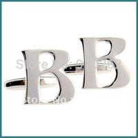 b cufflinks - Alphabet Cufflinks B Cufflinks Letter Cufflinks Initial Cufflinks