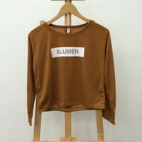 basic selling - 2015 New Fashion Hot Sell Casual Long Sleeve Loose Basic Women Sweatshirts patterns