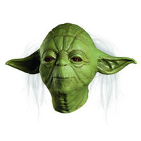 Halloween masks latex - adult size STAR WARS JEDI YODA DELUXE OVERHEAD HALLOWEEN COSTUME LATEX MASK ADULT ONE SIZE